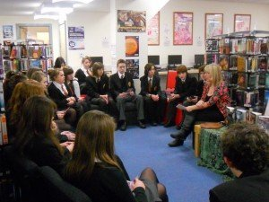 A World Book Day talk to Yr 10s in Dorchester