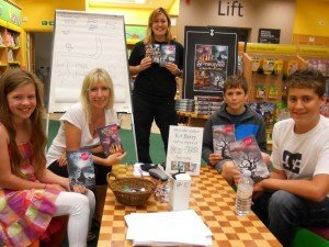 Kit runs a writing workshop in Waterstones, Guildford