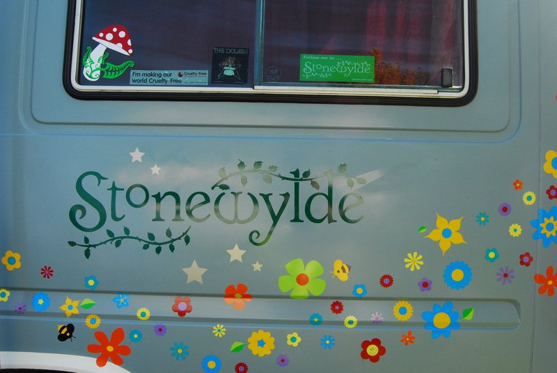Fan camper van at Stonewylde Moongazy Camp 2014