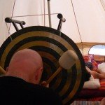 Gong playing at Stonewylde Moongazy Camp 2014