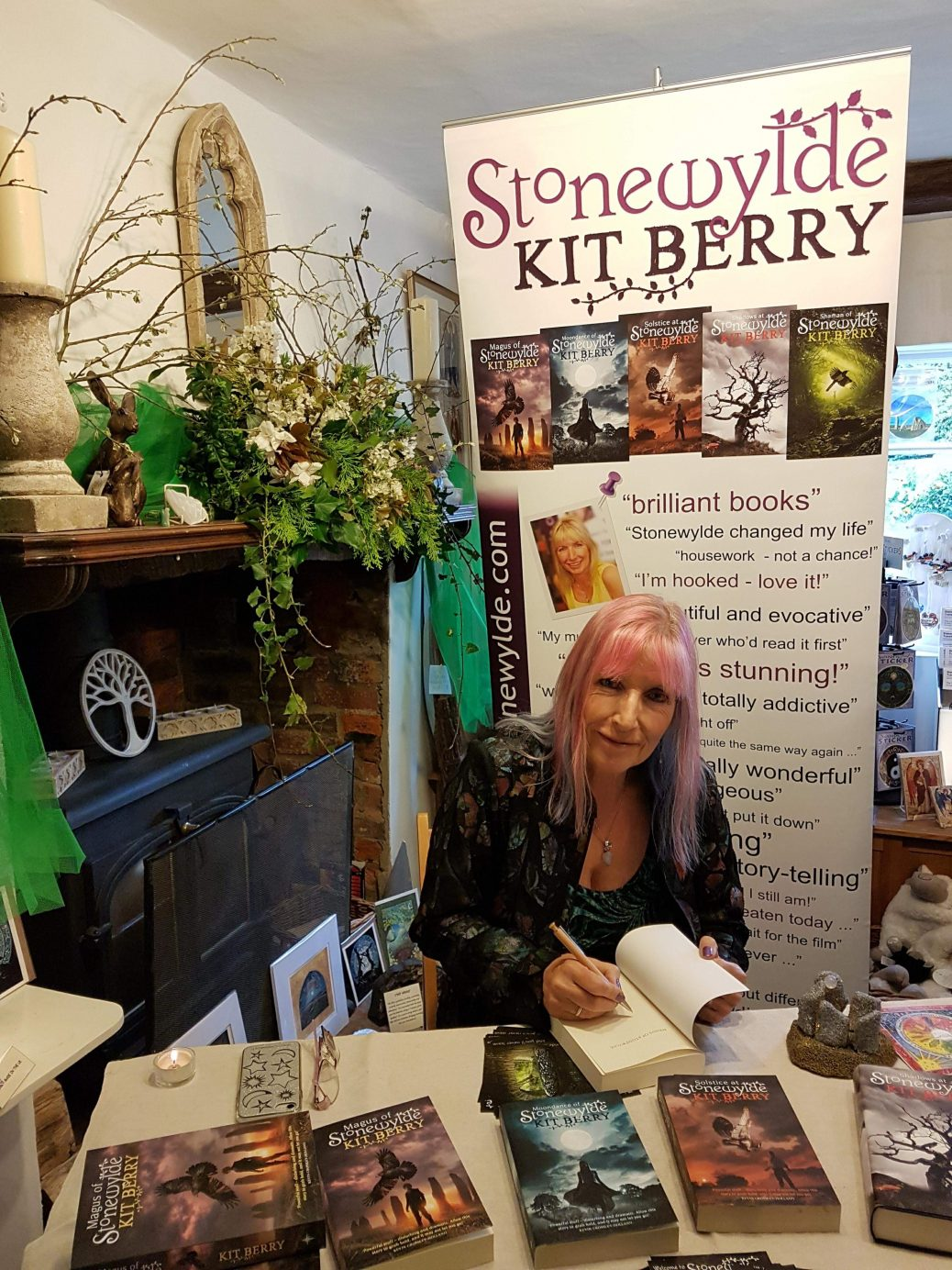Kit Berry Signing Books at Henge Shop